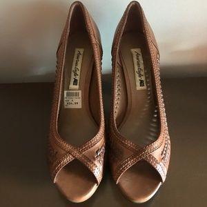Brown Woven Heels